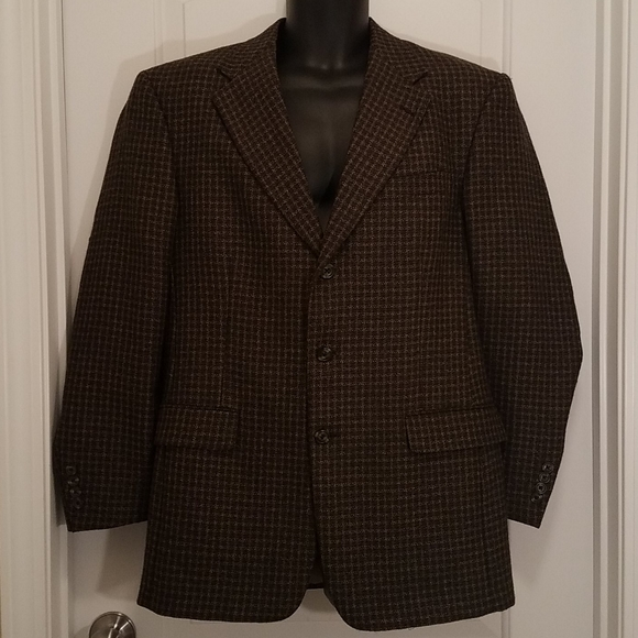 Austin Reed Other - Austin Reed Brown/Tan Wool Tweed Suit Jacket